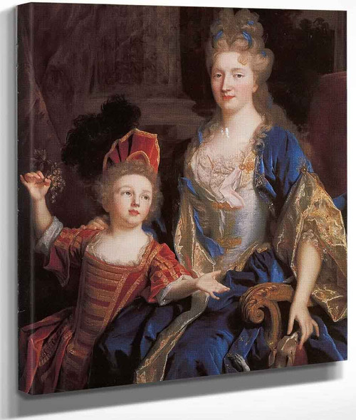 Portrait Of Catherine Coustard With Her Daughter Leonor By Nicolas De Largilliere