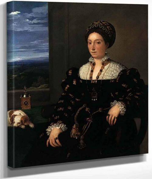 Portrait Of Eleonora Gonzaga Della Rovere By Titian