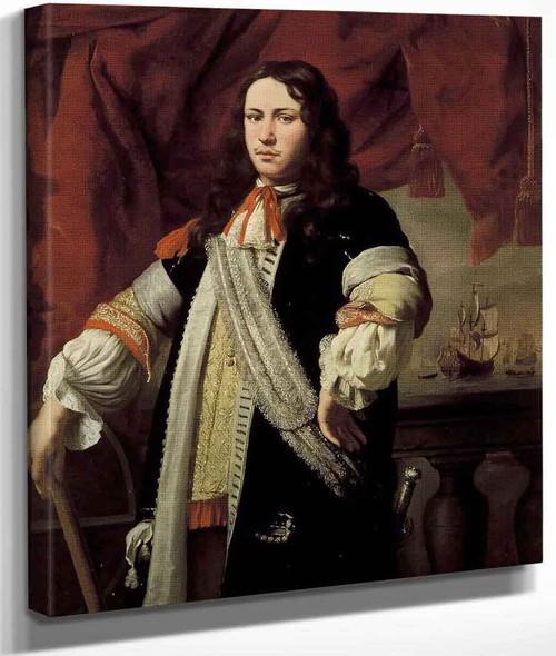 Portrait Of Engel De Ruyter By Ferdinand Bol