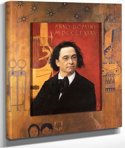 Portrait Of Joseph Pembauer By Gustav Klimt By Gustav Klimt