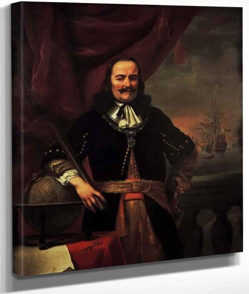 Portrait Of Michiel Adriaansz De Ruyter By Ferdinand Bol