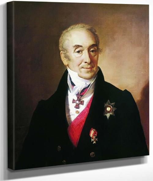Portrait Of Sergei Kushnikov By Vasily Tropinin