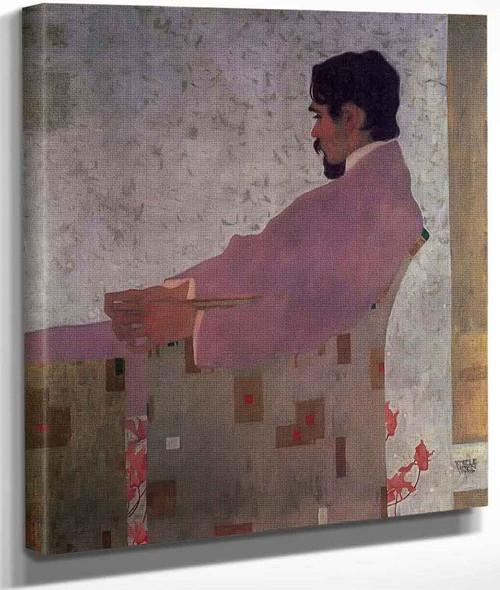 Portrait Of The Painter Anton Peschka By Egon Schiele By Egon Schiele