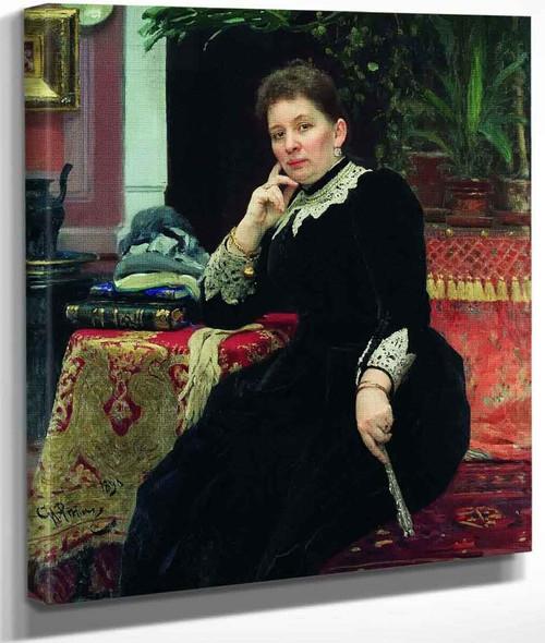 Portrait Of The Philanthropist Olga Sergeyevna Aleksandrova Heinz. By Ilia Efimovich Repin By Ilia Efimovich Repin