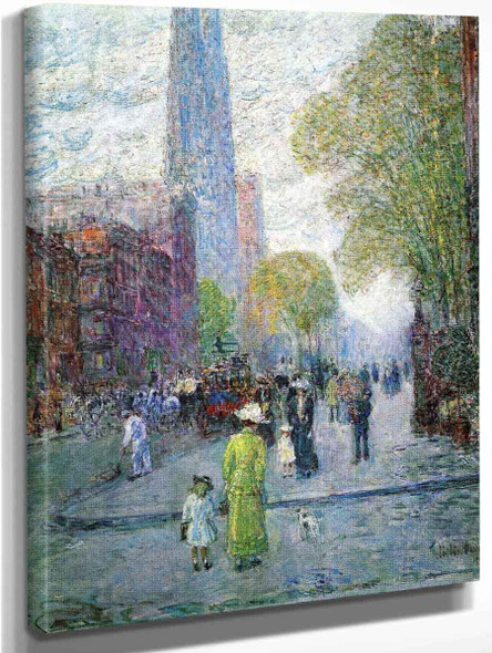 Cathedral Spires, Spring Morning By Frederick Childe Hassam
