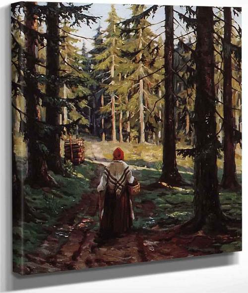 Road In The Forest By Sergei Arsenevich Vinogradov Russian