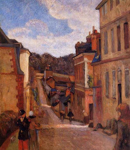 Rue Jouvenet, Rouen By Paul Gauguin By Paul Gauguin
