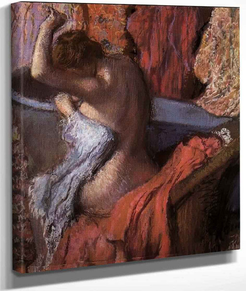 Seated Bather Drying Herself By Edgar Degas By Edgar Degas