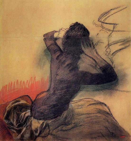 Seated Woman Adjusting Her Hair By Edgar Degas By Edgar Degas
