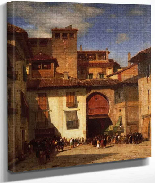 Spanish Market Place By Samuel Colman