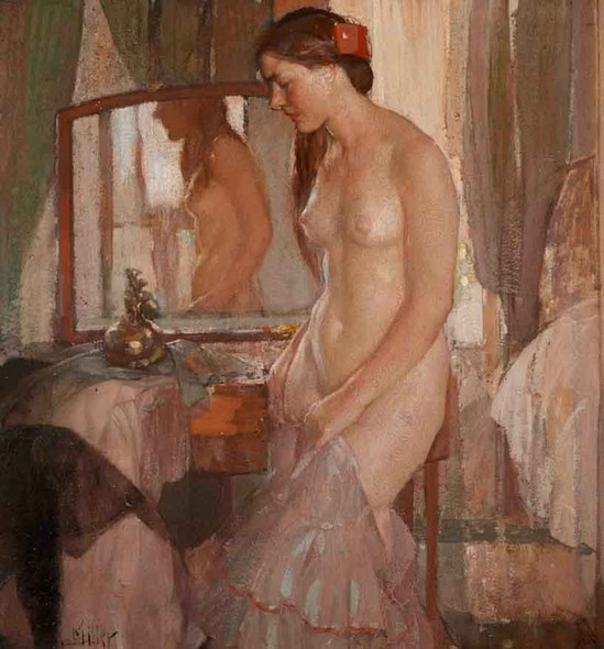 Standing Nude By Richard Edward Miller