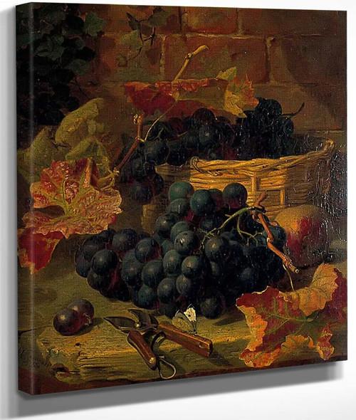 Still Life, Black Grapes By Eloise Harriet Stannard