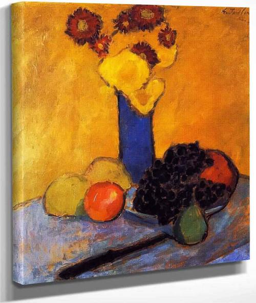 Still Life With Blue Vase By Alexei Jawlensky By Alexei Jawlensky