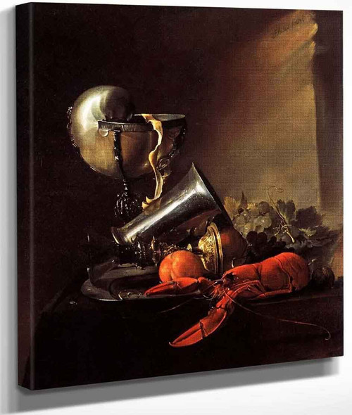 Still Life With Lobster And Nautilus Cup By Jan Davidszoon De Heem By Jan Davidszoon De Heem