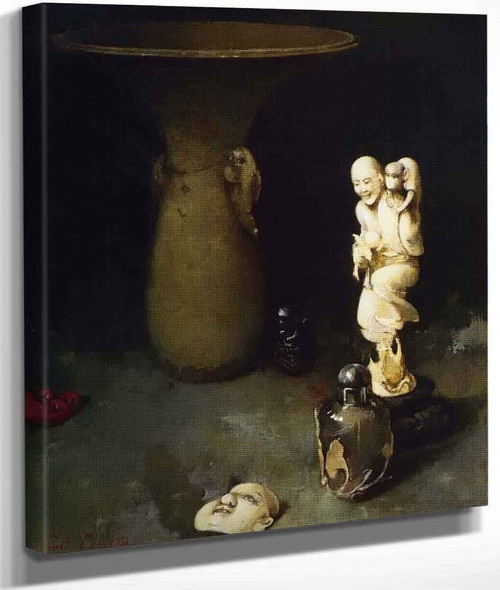 Still Life With Oriental Works Of Art By Emil Carlsen By Emil Carlsen