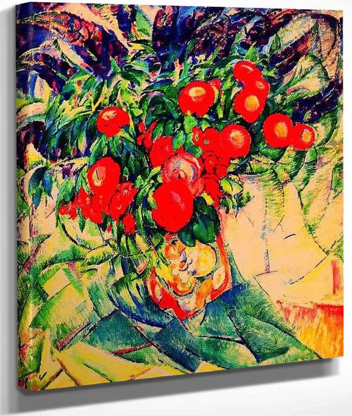 Still Life With Peonies By Leo Gestel