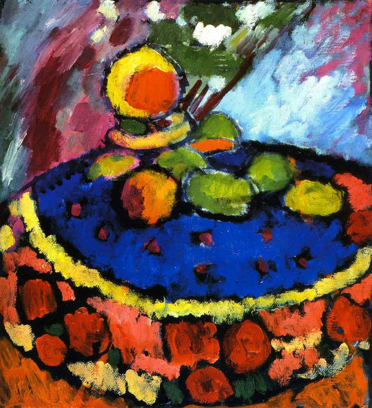 Still Life With Round Table By Alexei Jawlensky By Alexei Jawlensky
