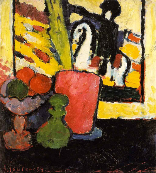 Still Life With White Horse By Alexei Jawlensky By Alexei Jawlensky