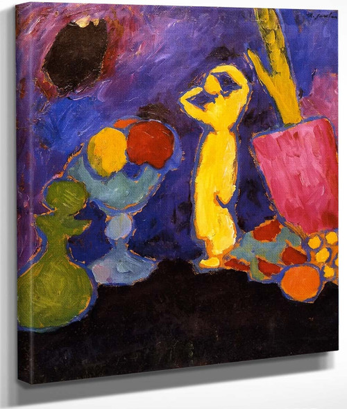 Still Life With Yellow Figure By Alexei Jawlensky By Alexei Jawlensky