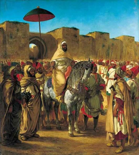 Sultan Of Morocco Moulay Abd Er Rahman By Eugene Delacroix By Eugene Delacroix