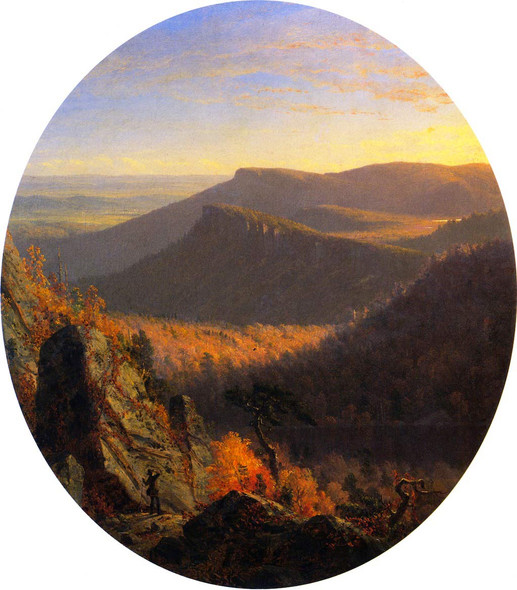 Sunset In The Shawangunk Mountains By Sanford Robinson Gifford By Sanford Robinson Gifford