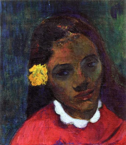 Tahitian Woman's Head By Paul Gauguin By Paul Gauguin