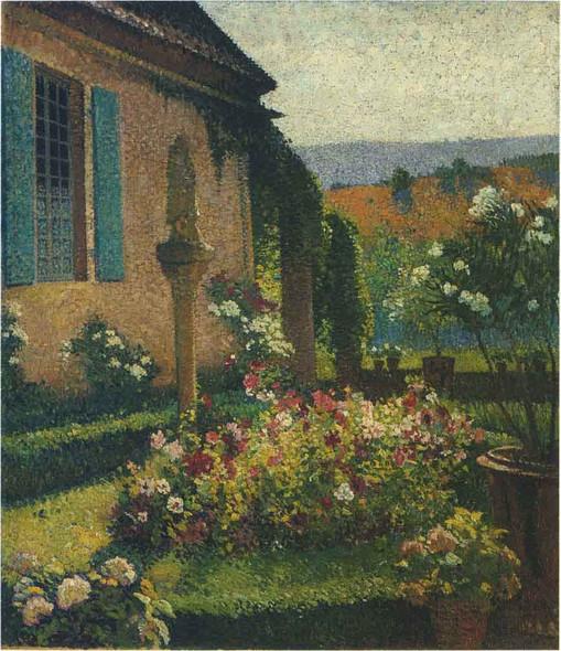 The Artist's Garden By Henri Martin By Henri Martin