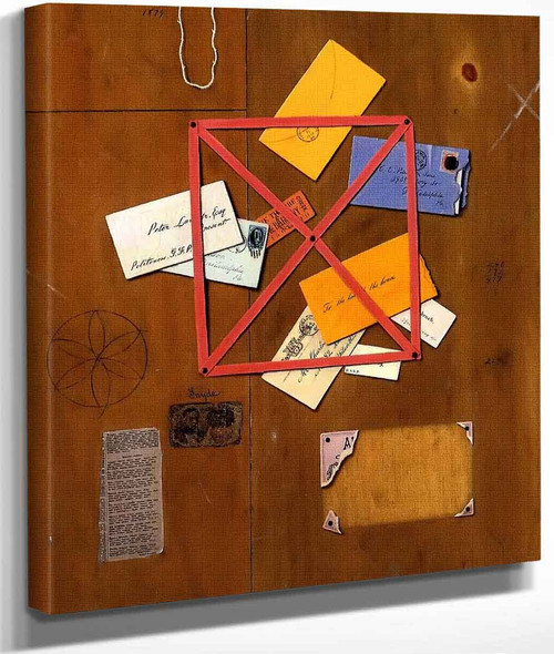 The Artist's Letter Rack By William Michael Harnett By William Michael Harnett