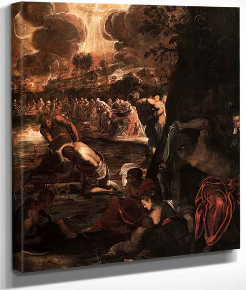 The Baptism Of Christ By Jacopo Tintoretto