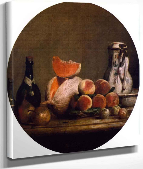 The Cut Melon By Jean Baptiste Simeon Chardin By Jean Baptiste Simeon Chardin
