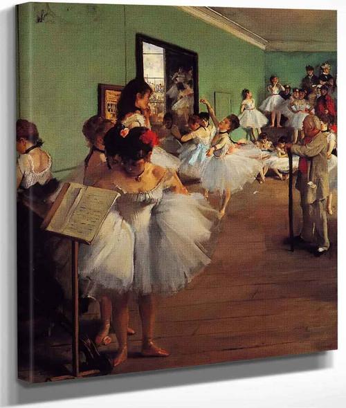 The Dance Class By Edgar Degas By Edgar Degas