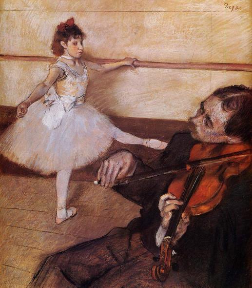 The Dance Lesson By Edgar Degas By Edgar Degas