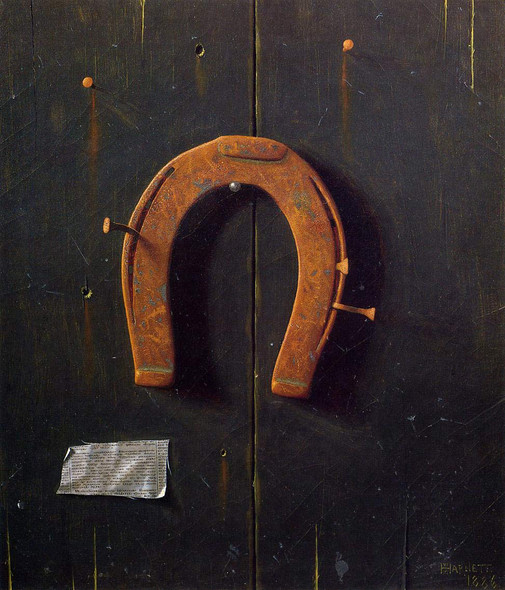 The Golden Horseshoe By William Michael Harnett By William Michael Harnett