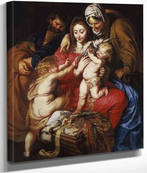 The Holy Family With Saint Elizabeth, Saint John And A Dove By Peter Paul Rubens By Peter Paul Rubens