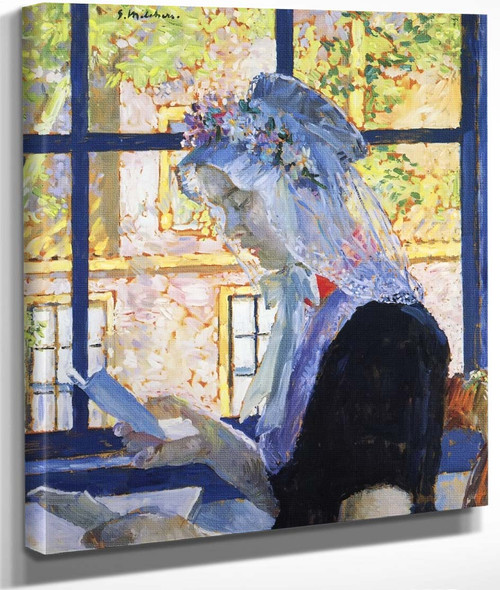 The Lace Cap By Gari Melchers