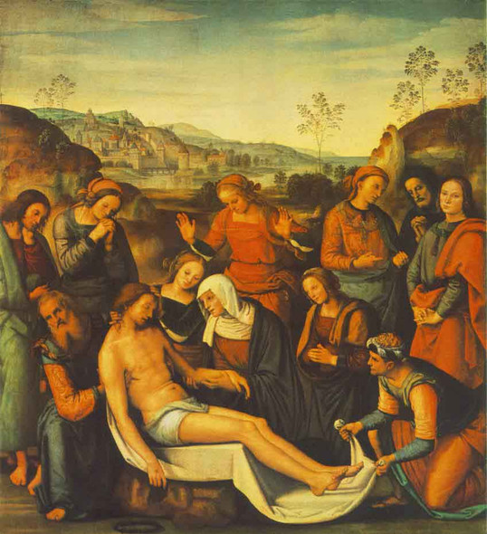 The Mourning Of The Dead Christ By Pietro Perugino By Pietro Perugino