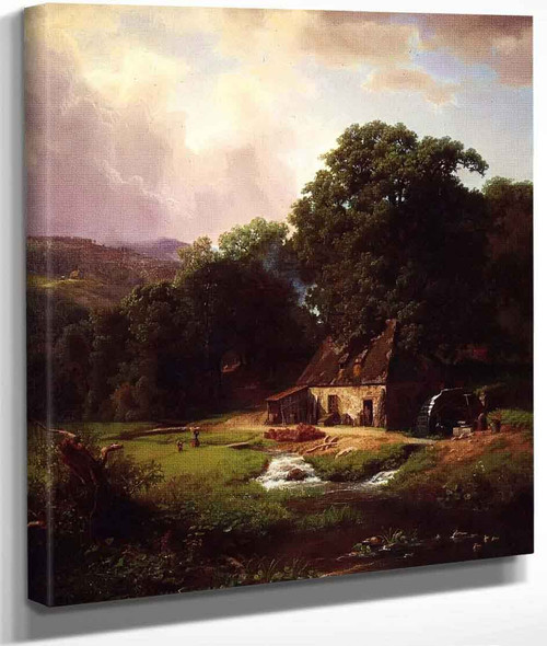 The Old Mill By Albert Bierstadt By Albert Bierstadt