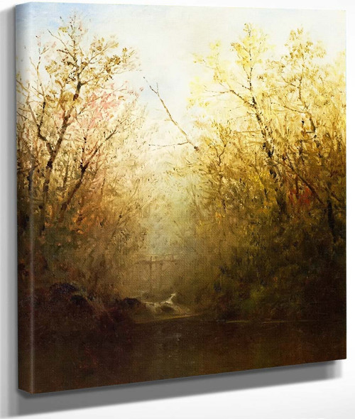Trout Brook By John Frederick Kensett By John Frederick Kensett