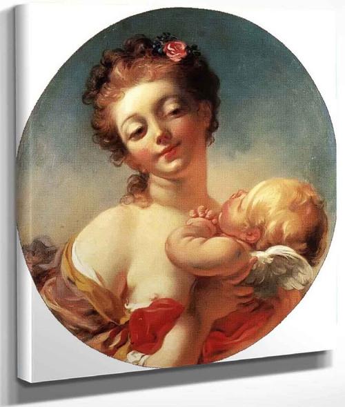 Venus And Cupid By Jean Honore Fragonard By Jean Honore Fragonard