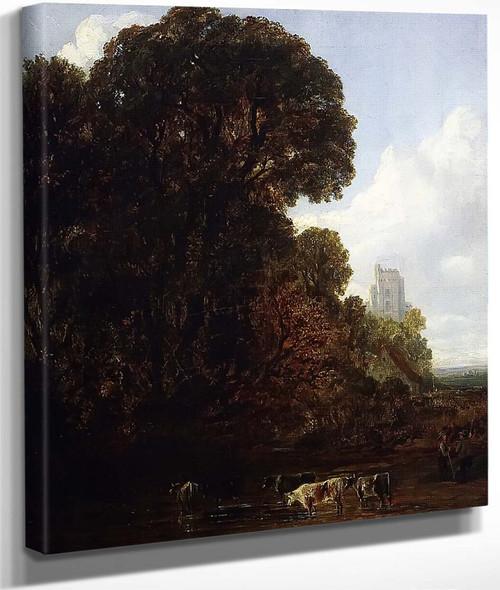 Watering Cattle By John Frederick Kensett By John Frederick Kensett