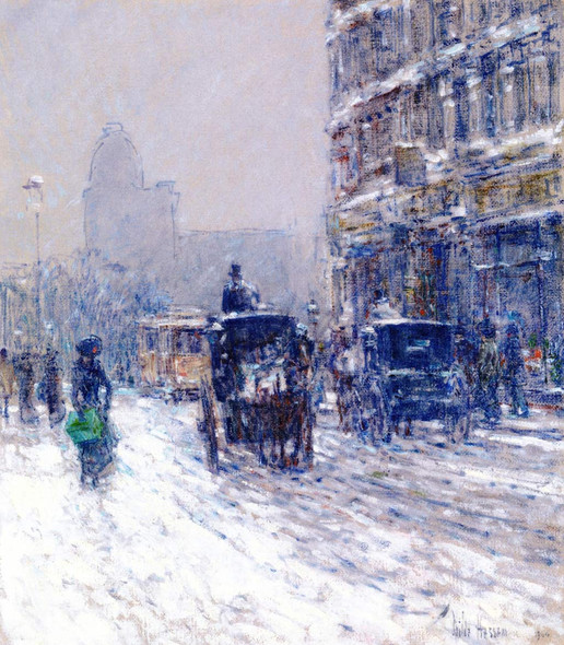 Winter, New York By Frederick Childe Hassam By Frederick Childe Hassam