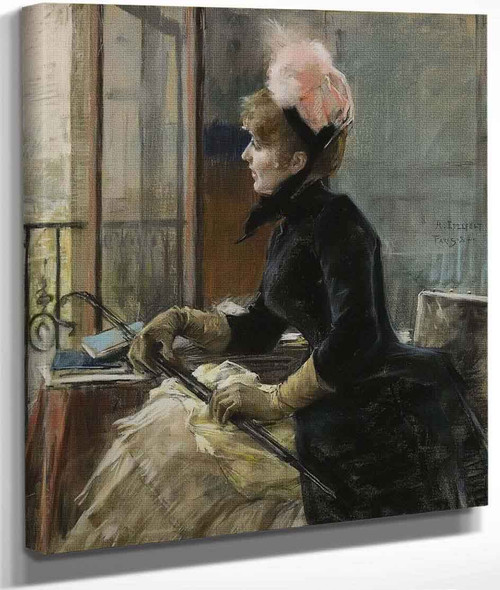 Woman At The Window By Albert Edelfelt