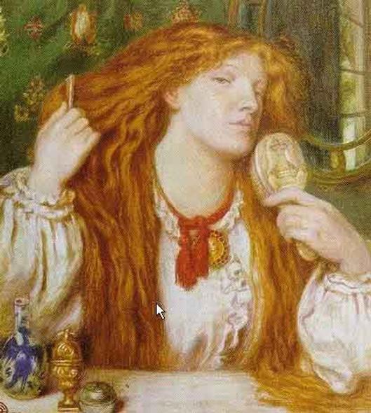 Woman Combing Her Hair By Dante Gabriel Rossetti