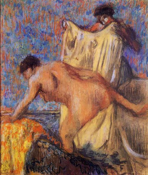 Woman Leaving Her Bath By Edgar Degas By Edgar Degas
