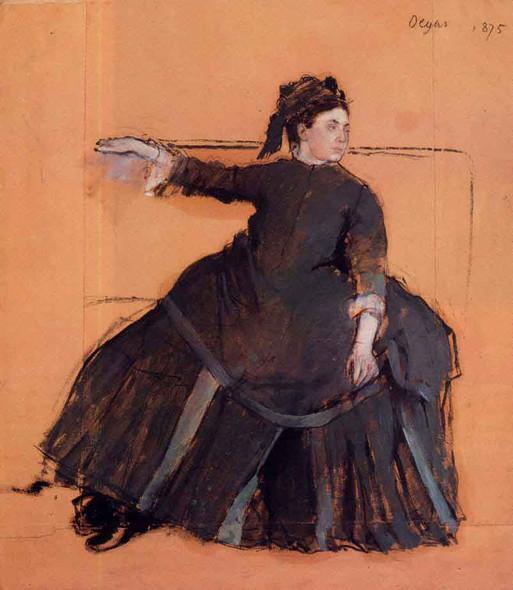 Woman On A Sofa By Edgar Degas By Edgar Degas
