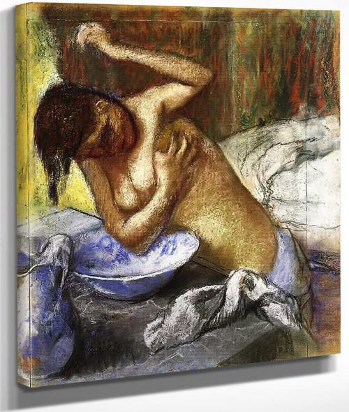 Woman Sponging Her Chest By Edgar Degas By Edgar Degas