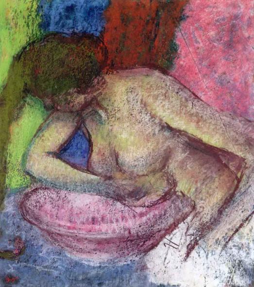 Woman Washing Herself By Edgar Degas By Edgar Degas