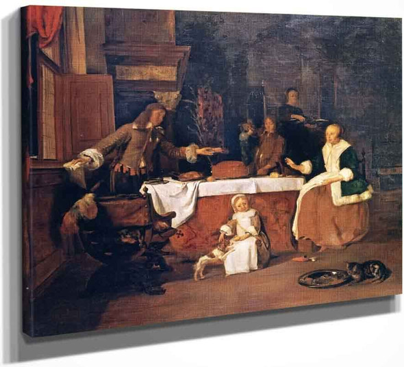 A Family Meal By Gabriel Metsu