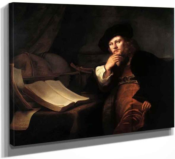 A Scholar At His Desk By Ferdinand Bol