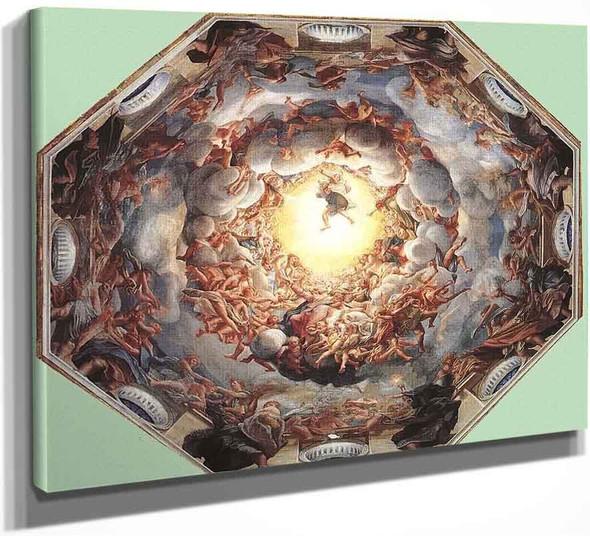 Assumption Of The Virgin By Correggio By Correggio